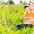 Happy mother and son outdoor portrait — Stock Photo #32077983