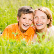 Happy mother and son in park — Stock Photo #32077999