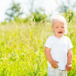 Child crying is on the nature — Stock Photo #32078023