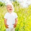 Child crying is on the nature — Stock Photo