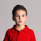 Portrait of adorable young beautiful boy — Stock Photo