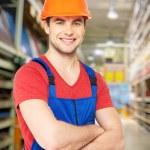 Professional handyman at store — Stock Photo #33781817