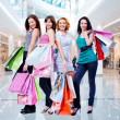 Women with shopping bags — ストック写真