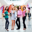 Women with shopping bags — 图库照片