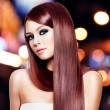 Stok fotoğraf: Beautiful womwith long straight hair