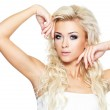 Blond woman with long hair — Stock Photo