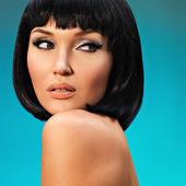 Beautiful woman with bob hairstyle — Stock Photo