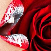 Güzel kadın dudaklar — Stok fotoğraf