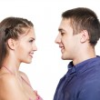 Two young smiling dating — Stock Photo #4199866