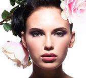 Closeup portrait of beautiful woman — Stock Photo