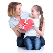 Happy mother and young daughter — Stock Photo