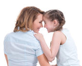 Portrait of happy mother and young daughter — Stock Photo