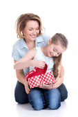 Madre e hija joven — Foto de Stock
