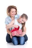 母亲和年幼的女儿 — 图库照片