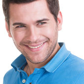 Closeup portrait of smiling happy man. — Stockfoto