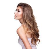 Profile of a beautiful woman — Stock Photo