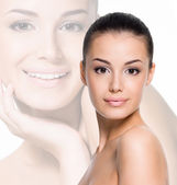 Vrouw met mooi gezicht — Stockfoto