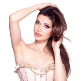 Beautiful white pretty woman — Stock Photo