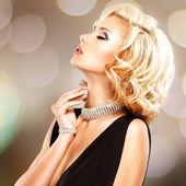 Portrait of a style beautiful woman — Stock fotografie