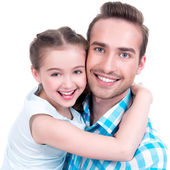 Happy  father with young daughter — Stock Photo
