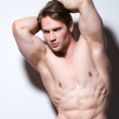Portrait of a sexy muscular young man. — Stock Photo