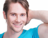 Close-up portrait of young happy man. — Stock Photo