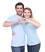 Portrait of cheerful smiling couple. — Stock Photo
