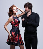 Portrait of luxury young couple in love — Stock Photo
