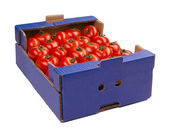 Tomato in a box — Stock Photo