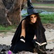 Witch conjures — Stock Photo