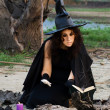 Stock Photo: Witch conjures