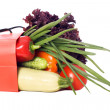 Bag full of vegetables — Stock Photo