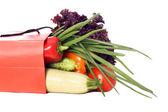 Sebze dolu çanta — Stok fotoğraf