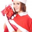 Pretty Santa girl portrait — Stock Photo