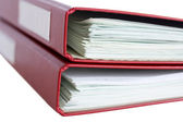 Stack of red folders with papers — Stock Photo