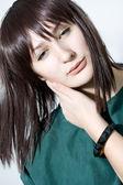 Portrait of beautiful female model — Stock Photo