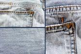 Džíny denim textury — Stock fotografie