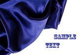 Smooth elegant blue silk — Stock Photo