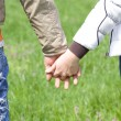 Love concept. Hand to hand love — Stock Photo