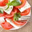 Stock Photo: Salad with tomatoes and cheese