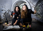 The witches conjure — Stock Photo