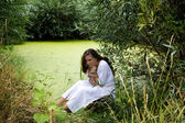 Related nymph in the swamp — Stock Photo