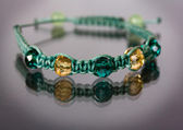 Tibetan Bracelet Shamballa — Stock Photo