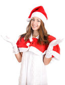 Smiling young christmas woman — Stock Photo