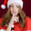 Stock Photo: The secret santa girl