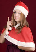 Warning santa woman — Stock Photo