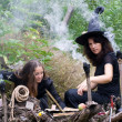 Stock Photo: Witches conjure