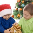 Kids with Christmas presents — Foto de Stock