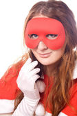 Masked woman — Stock Photo