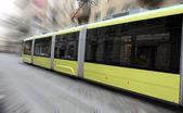 Jedoucí tramvaj — Stock fotografie